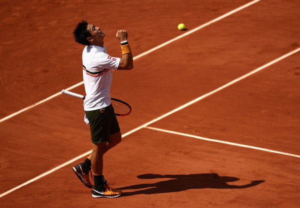 It was a decent run to the quarterfinals of Roland Garros for Kei Nishikori | Photo: Julian Finney/Getty Images Europe