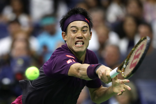 It was a great tournament for Nishikori, who is projected to rise into the top-15 of the rankings once more   Photo: Matthew Stockman/Getty Images North America