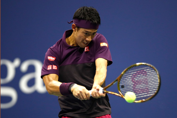 Nishikori saved 13/17 break points today but was only able to create two of his own   Photo: Julian Finney/Getty Images North America