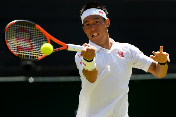 Nishikori didn't have it all his own way (Photo: Shaun Botteril/Getty Images Europe)