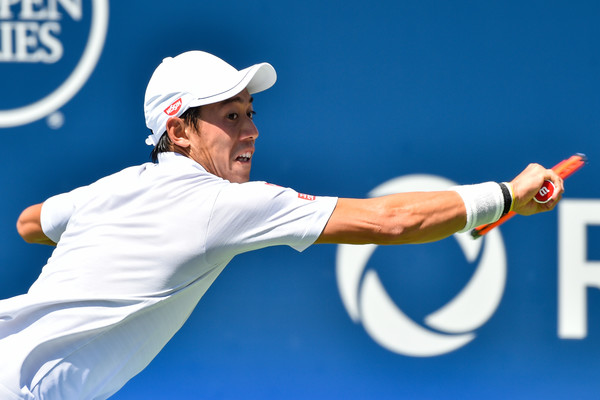 Nishikori in action at the Rogers Cup (Photo: Minas Panagiotakis/Getty Images North America)