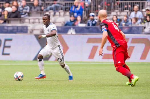 Whitecaps deal promising forward Manneh to Crew for Tchani, allocation money