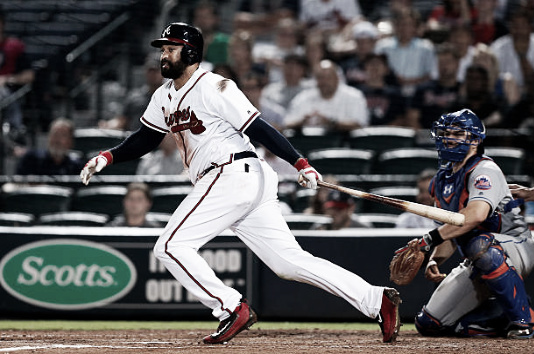 Kemp provided the Braves with good production through four games of the season before injuring his hamstring. (Photo provided by Mike Zarrilli via Getty Images)