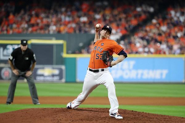 Giles has not been good this postseason, part of the reason Houston's bullpen has struggled/Photo: Elsa/Getty Images