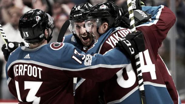 Kerfoot celebra su primer gol esta temporada |Foto: NHL.com