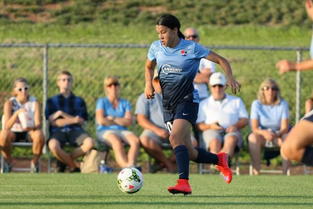 Sam Kerr's introduction was a bright spot for Sky Blue in the second half | Source: Sky Blue FC - Robyn McNeil