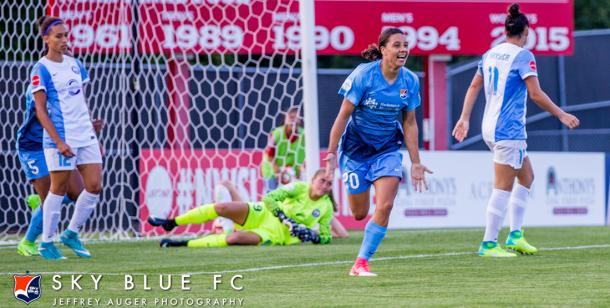Sam Kerr has been named NWSL Player of the Month two months in a row, and now leads the league in all time goals scored | Source: Jeffery Auger Photography