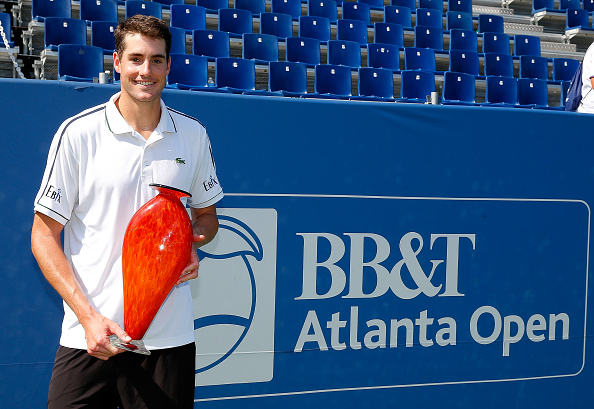 John Isner looks for his fourth consecutive title in Atlanta. Credit: Kevin C. Cox/Getty Images