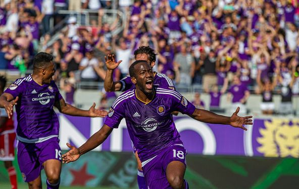 Orlando City SC midfielder Kevin Molino (#18) played an integral part in helping Orlando City earn a point against New York City FC on Sunday. Photo credit: Chris McEniry/Overflow Productions, Inc.