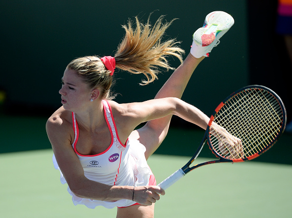Camila Giorgi in first round action (Getty Images/Kevork Djansezian)
