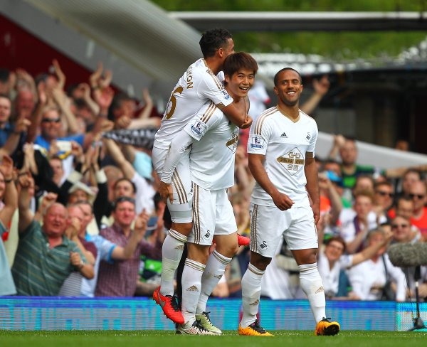 Ki capped off a fine individual performance with a great goal of his own. | Image source: Swansea City