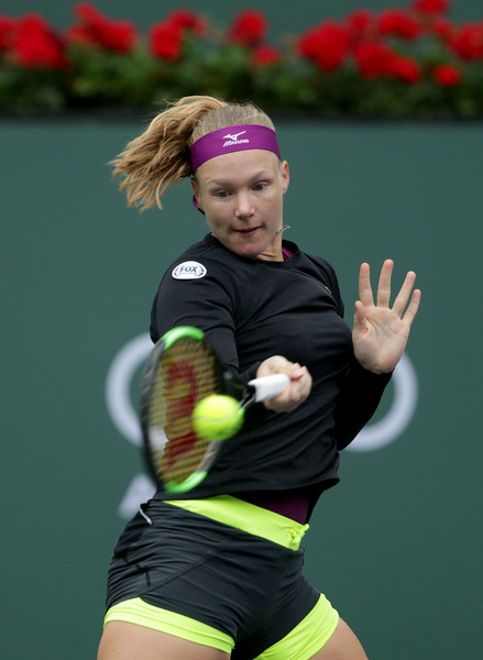 Kiki Bertens failed to convert her chances throughout the match, although she put in a fantastic display as well | Photo: Jeff Gross/Getty Images North America