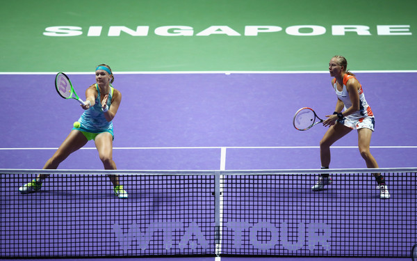 Bertens and Larsson caused a couple of upsets in Singapore, the fifth biggest tournament in women's tennis | Photo: Clive Brunskill/Getty Images AsiaPac