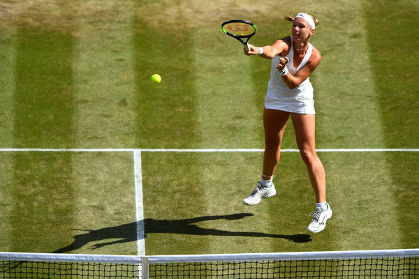 Kiki Bertens was looking to close out the win but her missed break point in the opening game of the second set proved costly | Photo: Clive Mason/Getty Images Europe