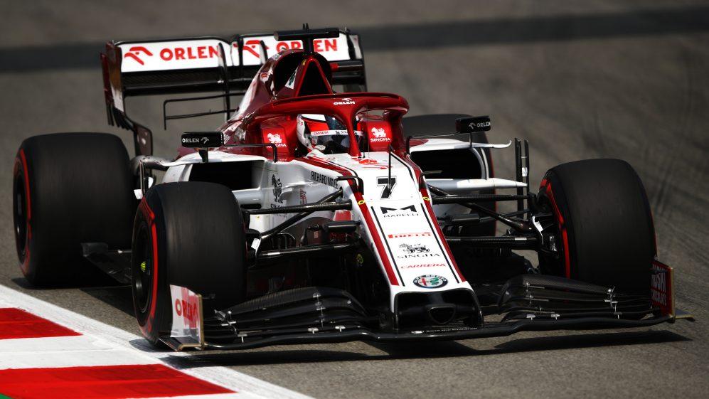 Kimi Raikkonen en acción con el Alfa Romeo. FUENTE: F1