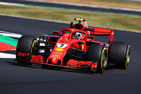 Kimi durante la carrera en Silverstone | Getty Images Europe.