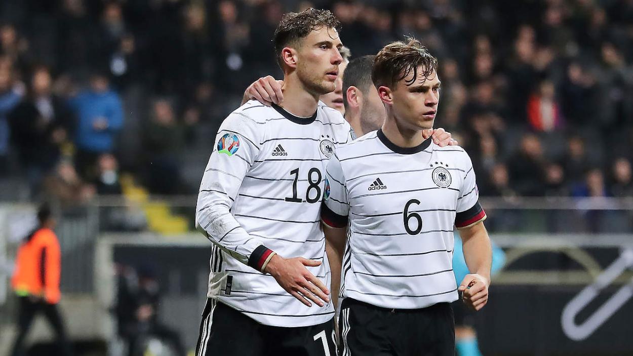 Goretzka y Kimmich en acción con Alemania. FUENTE: DFB