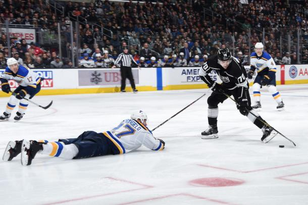 The St. Louis Blues did what it took to beat the Kings on March 10, 2018. (Photo: lakingsinsider.com)