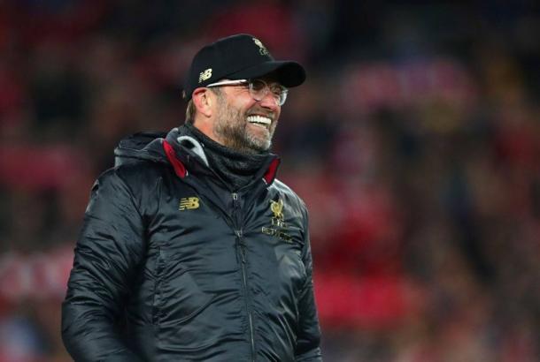 Após quatro anos no cargo, Klopp poderá levantar seu primeiro título pelo Liverpool (Divulgação / Liverpool)