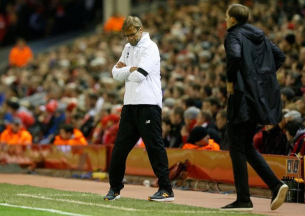 Klopp and Tuchel on the touchline | Photo: Carl Recine / Reuters