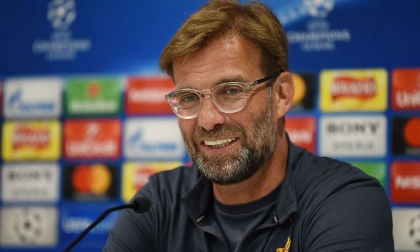 Klopp durante la rueda de prensa previa al partido | Foto: Liverpoolcf.com