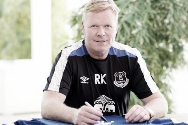Koeman has signed a three year deal at Goodison Park. | Photo: Everton