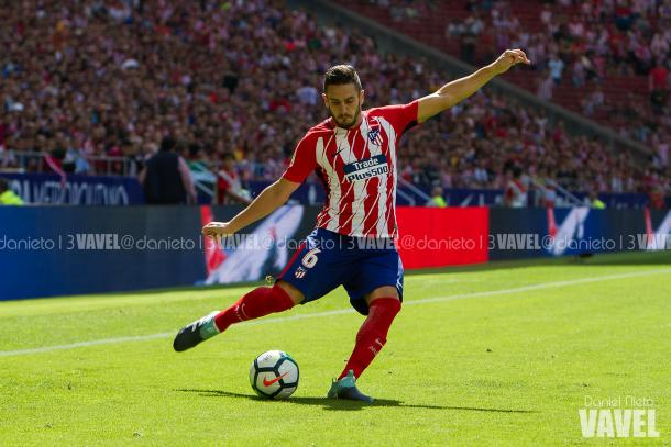 Koke (Atleti) centrando en el Wanda Metropolitano | Foto: Daniel Nieto (VAVEL)