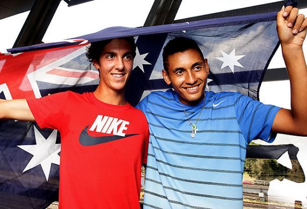 Kokkinakis and Kyrgios are Australia's next generation. (AAP Image/Tennis Australia, Fiona Hamilton)