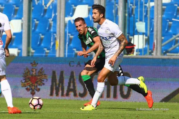 Kone in azione nel match dell'andata. Fonte: www.facebook.com/UdineseCalcio1896