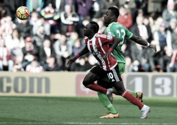 Above: Lamine Kone in action ahead of Sunderland's match with Newcastle United on Sunday| Photo: Sunderland Echo