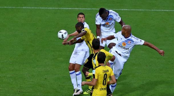 Kone's goal against Dortmund. | Image credit: SAFC
