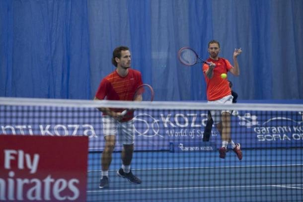 Wesley Koolhoff (left) and Matwe Middlekoop (Photo: Garanti Koza Sofia Open)