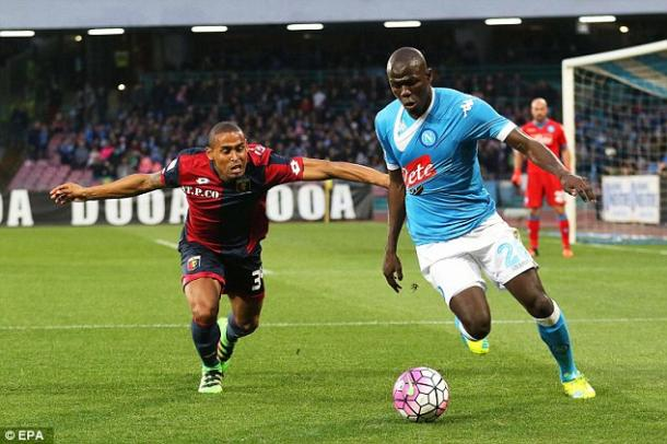 Koulibaly was linked with a move away from Napoli this summer / The Daily Mail