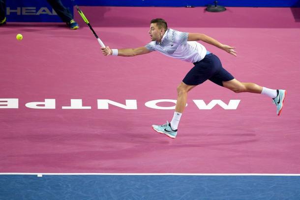 Krajinovic esteve muito perto das semis no sul da França (Foto: Divulgação/Open Sud de France)