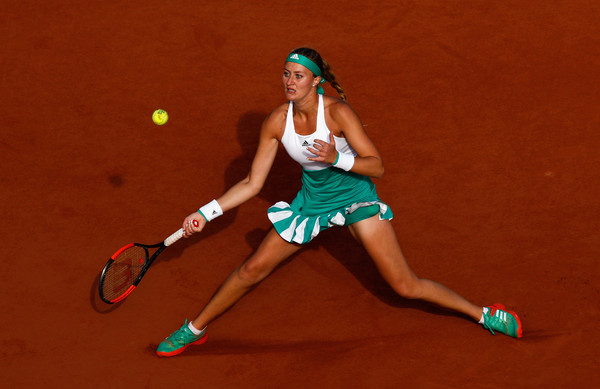 Kristina Mladenovic will be disappointed with her performance today | Photo: Adam Pretty/Getty Images Europe