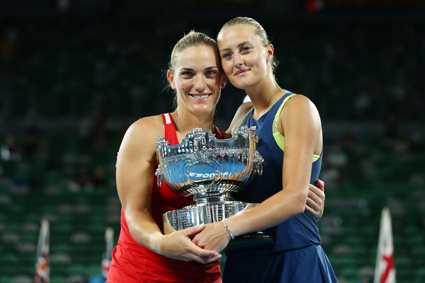Babos and Mladenovic after winning the Australian Open title | Photo: Michael Dodge/Getty Images AsiaPac