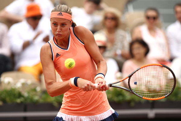 Kristina Mladenovic made a stunning start but was unable to maintain her level of play | Photo: Cameron Spencer/Getty Images Europe