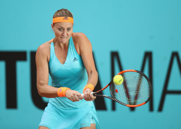 Kristina Mladenovic had a tough time on court today | Photo: Julian Finney/Getty Images Europe