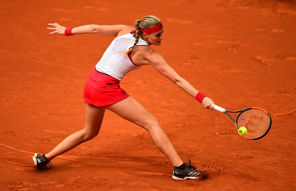 Kristina Mladenovic had the best start possible though she was unable to maintain her high-quality play | Photo: Denis Doyle/Getty Images Europe