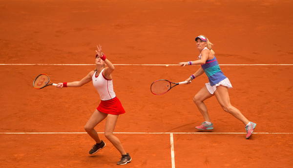 Babos and Mladenovic put in a good performance, but was unable to defeat their stronger opponents | Photo: Denis Doyle/Getty Images Europe