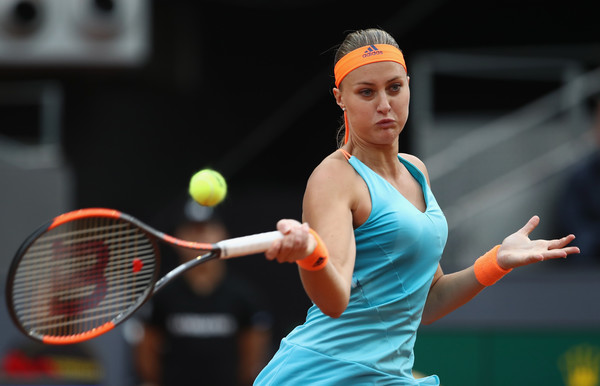 Kristina Mladenovic did not give up even when facing the brink of defeat | Photo: Julian Finney/Getty Images Europe