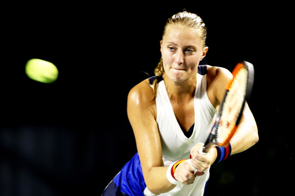 Kristina Mladenovic in action | Photo: Koji Watanabe/Getty Images AsiaPac