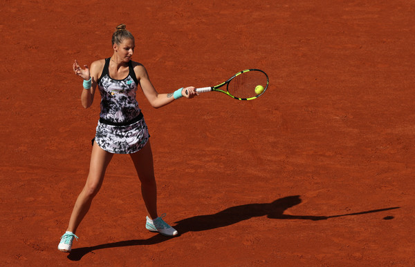 Kristyna Pliskova's forehands brought her some trouble in the second set but it was still an encouraging performance overall   Photo: Matthew Stockman/Getty Images Europe
