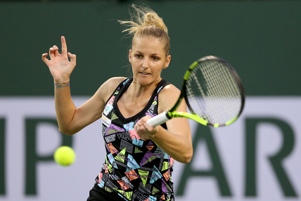 Kristyna Pliskova would be encouraged by her performance today | Photo: Matthew Stockman/Getty Images North America