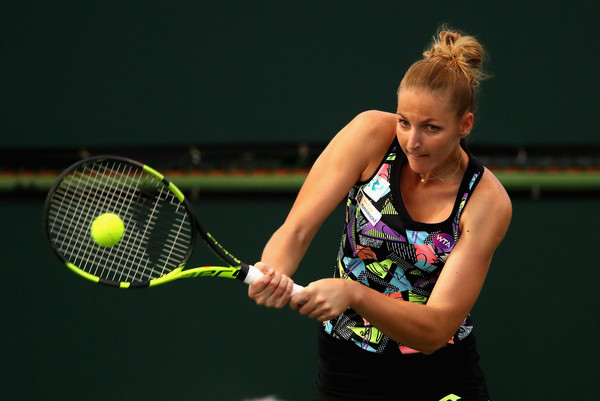 Kristyna Pliskova had a great run here in Indian Wells | Photo: Clive Brunskill/Getty Images North America