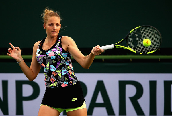 Kristyna Pliskova's forehand was working well today | Photo: Clive Brunskill/Getty Images North America