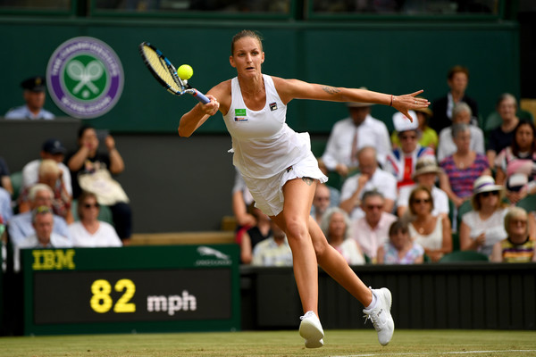 Karolina Pliskova fell to a shock defeat at the hands of Magdalena Rybarikova, the eventual semifinalist | Photo: Shaun Botterill/Getty Images Europe