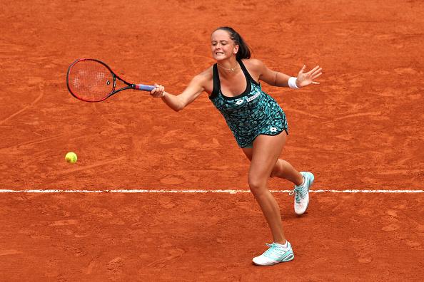 Kuzmova não resistiu à número quatro do mundo (Foto: Matthew Stockman/Getty Images)