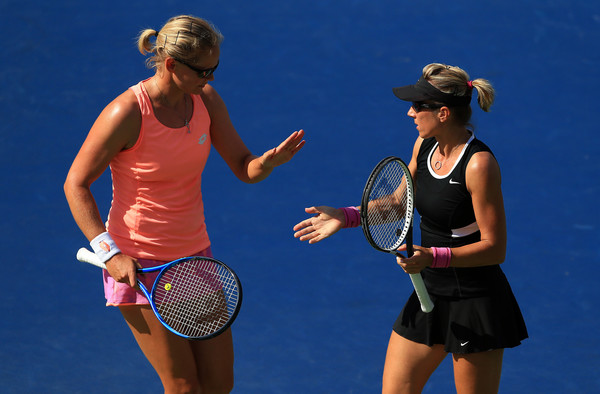 Peschke and Groenefeld during the Rogers Cup final | Photo: Vaughn Ridley/Getty Images North America