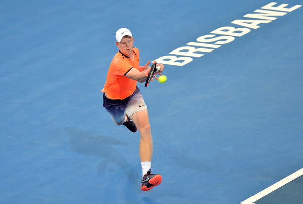 Edmund at the Brisbane International earlier this month (Photo by Bradley Kanaris/Getty Images)